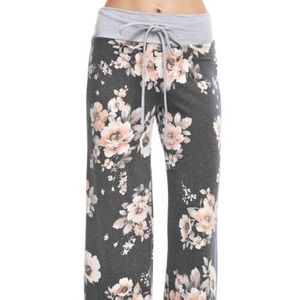 Pants - Floral French Terry Casual Pants